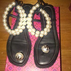 Tory Burch pearl sandals